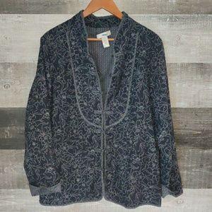 Reversible cotton CJ Banks cardigan jacket